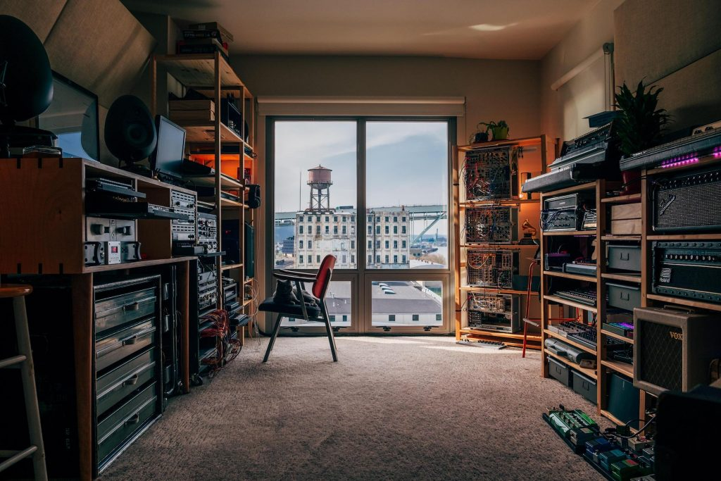 Home music studio of the Grammy award winning Artist RAC